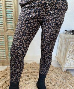 Mi Piace travelstof broek 2016 zwart/hazel leopard