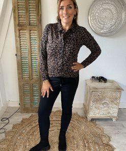 Mi Piace travelblouse 840 zwart/hazel leopard