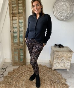 Mi Piace travelstof broek 2016 zwart/hazel zebra